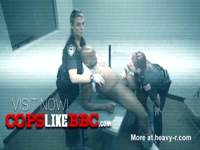 Milf cops suck off horny trespassers big black cock