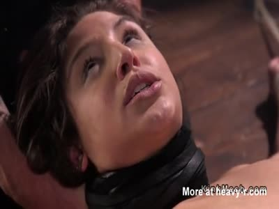 Hogtied Brunette Suffocated