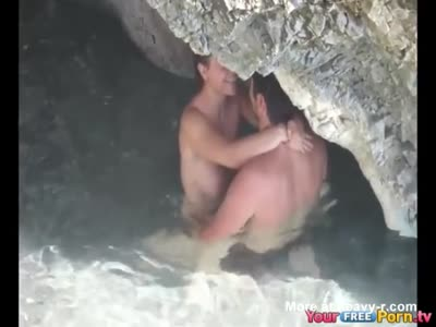 Busted A Couple Fucking Under The Rocks On Ibiza
