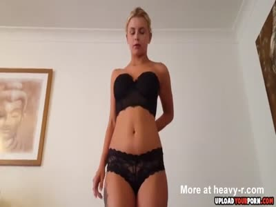 Stunning Blonde Stripping And Sucking In POV