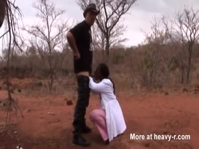 Outdoor Fucking African Hooker