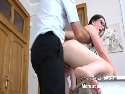 Pale Teacher Fucking Cock