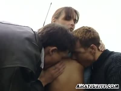 Threesome In The Countryside