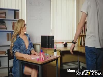 Amazing body schoolgirl blowjob class and rides the teacher