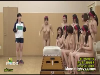 Naked Asian Gym Class