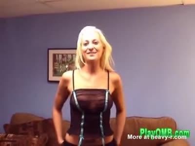 Big Tits Blonde Skank Craves PLAYOMB Toy U Gotta Shake It GO