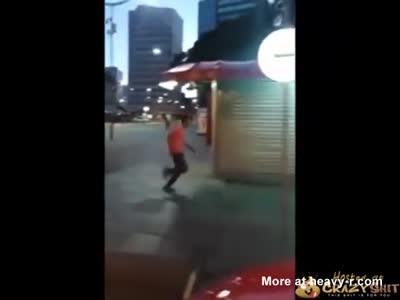 Badass Kick Kills Guy
