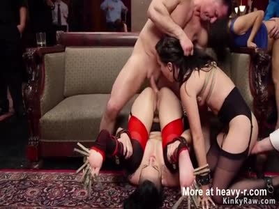Anal Initiation At BDSM Orgy