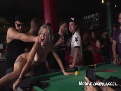 Gangbang In Pool Bar