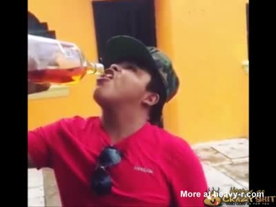 Mexican Showoff Put To Sleep By Too Much Tequilla