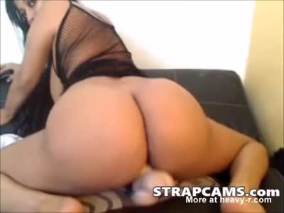 Big tit milf latina fucks pussy with dildo
