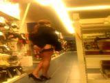Cross dresser wanking in supermarket