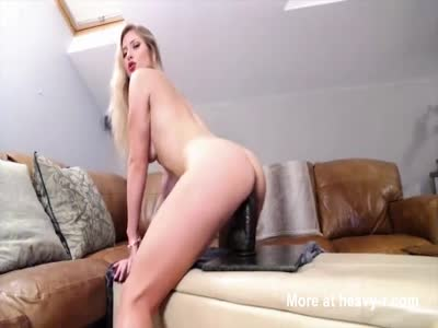 Blonde In DP With Monster Dildo And Her Man