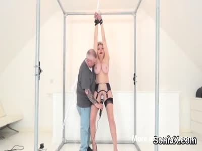 Bound MILF Made To Orgasm