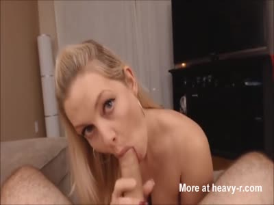Busty Blonde Giving POV Blowjob