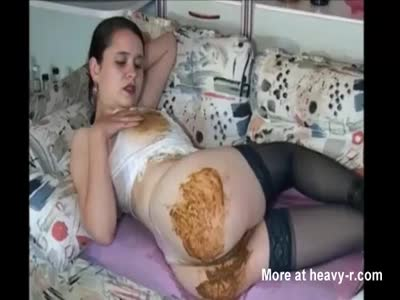 Shit herself getting anal