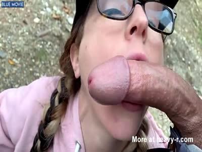 Nerd Taking Outdoor Facial