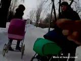 Public wanker harassing moms in the park