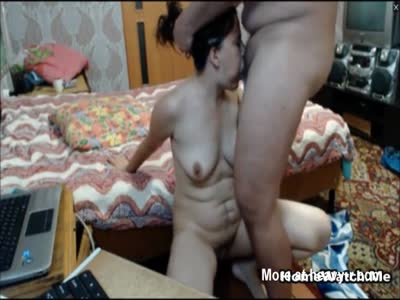 Lucky Old Man Fucks Extremely Hairy MILF