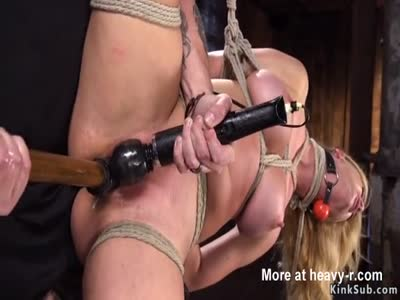 Vibed And Fucked In Rope Bondage