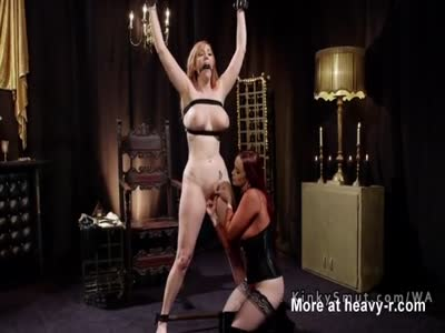 Submissive Redhead Fingered