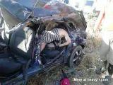 Horrific Car Crash Aftermath