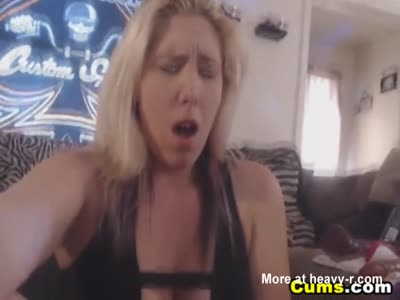 Blonde Mature Dildoes To Orgasm