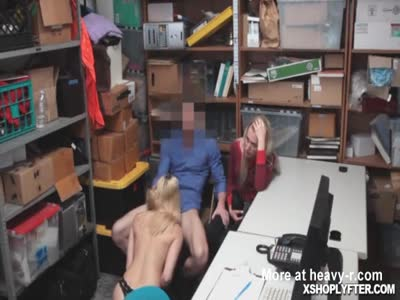 Mother and daugter Sierra deal to suck and bang the officer