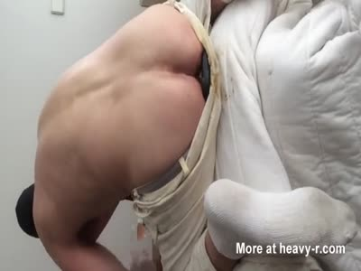 Nasty guys ass stuffing