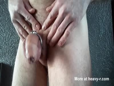 Cock with chastity device