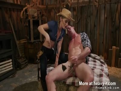 Dom Cowgirl Makes Dude Lick Her
