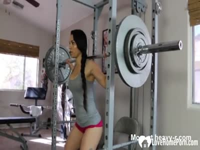 Sexy Girl Working Out