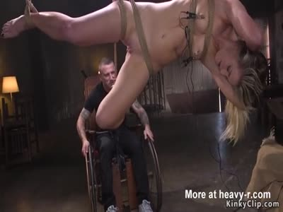 Hanging Girl Gets Whipped