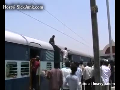 Shocking Retard At India Railway