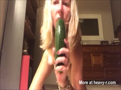 Old Mom Fucking Cucumber