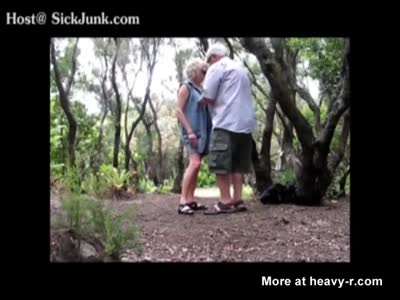 Very Old Couple Banging In The Park