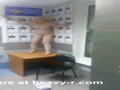 Naked Woman Terrorizes Police Station