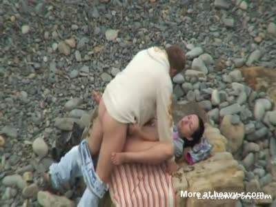 Kinky Amateur Couple Beach Sex