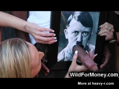 Funny BBC Cums On Hitler