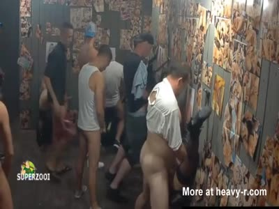 Whore House Gloryhole Gangbang