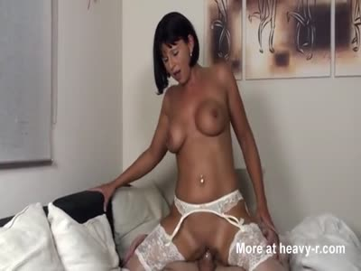 Ebony In Lingerie Fucked Hard