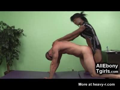 Ebony master spanking banging white thug