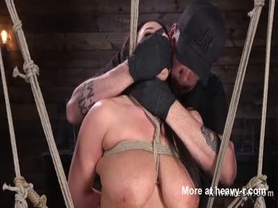 Busty Babe In Rope Bondage
