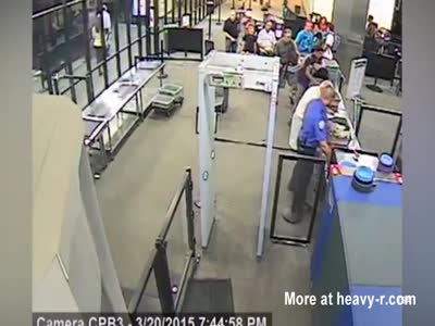 Man Attacks TSA With A Giant Machete