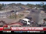 Trucker runs over woman in road rage