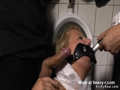Blonde Humiliated In Public Restroom