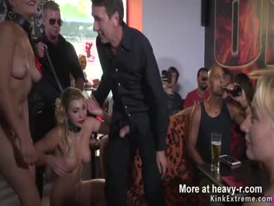 Euro slaves made to lick mistress pussy