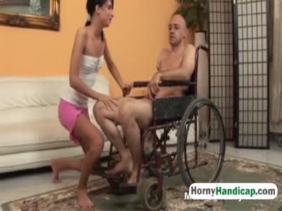 Sucking Man In Wheelchair