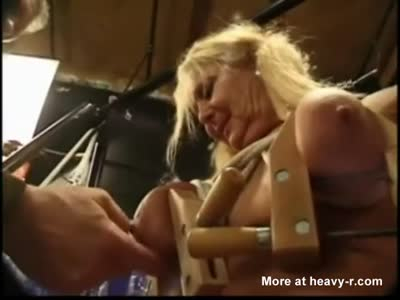Tit Torture For Blonde Granny