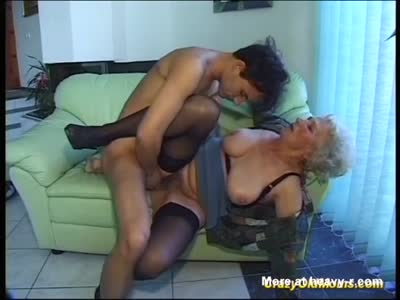 Grandson Fucks His Old Horny Granny